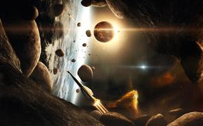 Космос: камни, корабли, планеты