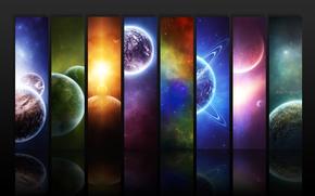 Космос: планеты, космос, абстракция