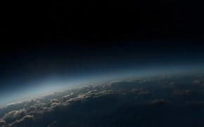 Космос: небо, облака, атмосфера, звезды