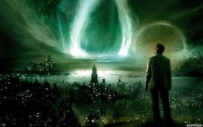 Фантастика: города, ночь, фантастика, ситуации