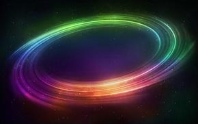 Космос: космос, туманность, радуга