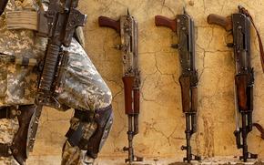 Оружие: солдат, военный, оружие, калаши