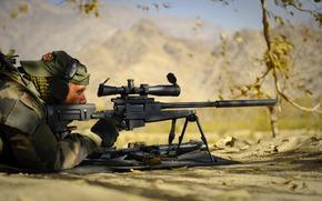 Оружие: солдат, снайпер, винтовка, оружие, засада