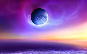 Космос: космос, планета, море, небо