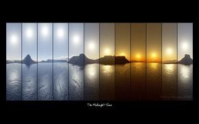 Стиль: надписи, фотосъемка, коллаж, компановка, море, горы, солнце