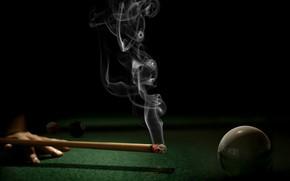Спорт: бильярд, тление, шар