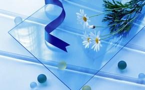 Разное: простой, стекло, круглый, квадратный, длинный, шары, цветы, ленты, синий, голубой