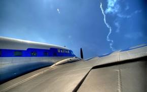 Авиация: самолет, крыло, ракета, небо
