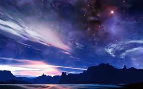 Космос: небо, скалы, свет