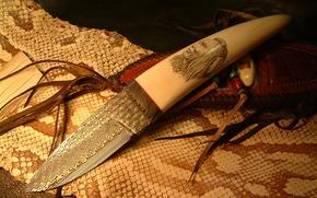 Оружие: холодное оружие, нож, индеец, змей, кожа