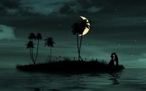 Настроения: романтика, вместе, любовь, луна