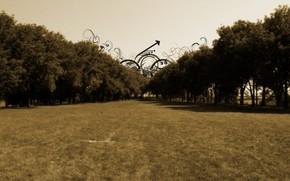 Стиль: дорога, ковер, трава, будущее, перспектива, завитушки