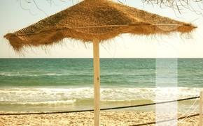 Стиль: море, отдых, пляж, полоса, волны, пена, песок