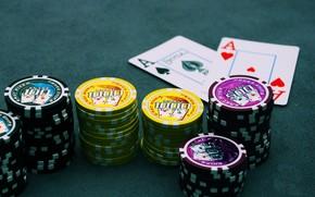 Игры: покер, фишки, азартные игры, игровой стол