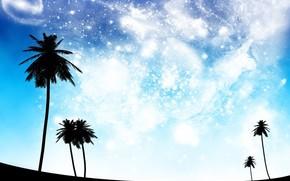 Абстракция: мечты, небо, космос, черный, голубой
