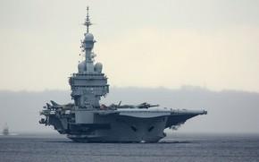 Оружие: charles de gaulle, авианосец, крупным планом, франция, самолеты