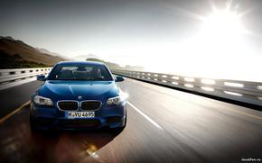 Машины: bmw m5 2011,  машина,  скорость,  дорога,  солнце,  небо,  car,  speed,  road,  sun,  sky,  1920x1200, автомобили, машины, авто