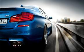 Машины: bmw m5 2011,  машина,  скорость,  дорога,  car,  speed,  road,  1920x1200, автомобили, машины, авто