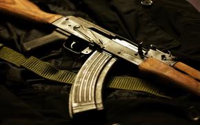 Оружие: автомат, калаш, ак-47
