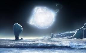 Космос: волны, море, звезда