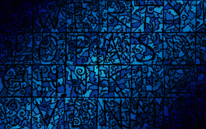 Текстуры: десктоп, узор, синий, челюсти, мозаика, плоский