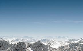 Пейзажи: пейзаж, горы, снег, небо