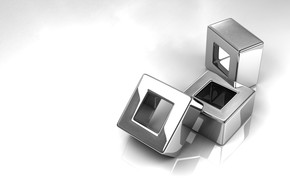 Рендеринг: блеск, кубики, серебро