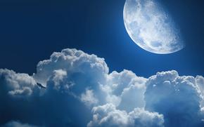 Космос: космос,  облако,  облака,  луна,  планета,  звезда,  планеты,  звезды,  ночь,  небеса,  небо,  просторы,  вселенная