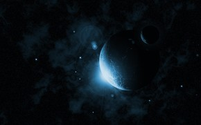 Космос: фантастика, солнце, планеты