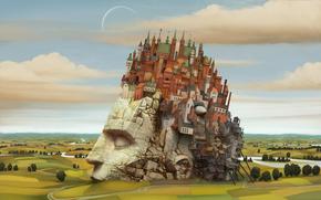 Фантастика: новый вавилон, башка, город