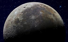 Космос: луна,  небо,  звезды