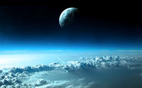Космос: облака,  космос,  небо,  планета,  ракета