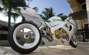 Мотоциклы: мотоцикл, байк, белый