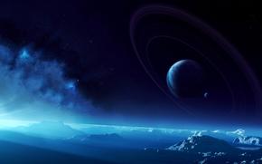 Космос: поверхность, планеты, кольца, небо