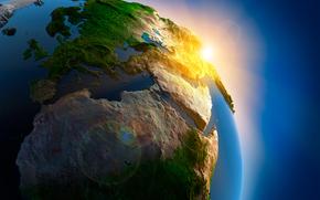 Космос: планета земля, космос, небо, горы, реки, море, океан, река