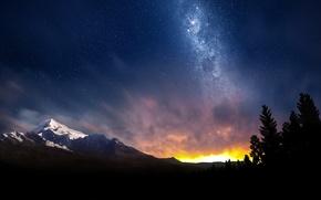 Космос: swiss, night, sky, небо, звезды, космос, природа, млечный, путь