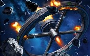 Космос: астероиды, камни, пожары, взрывы