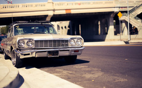 Машины: шевроле, импала, спорт, седан, город, улица, мост, Chevrolet