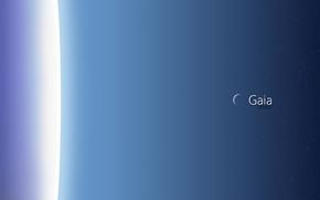 Космос: атмосфера, небо, звезды, месяц, синий, автор