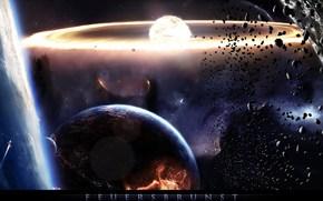 Космос: космос, планета, катастрофа, камни