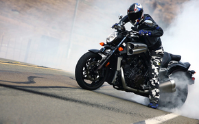 Мотоциклы: байк, ямаха, дым, байкер