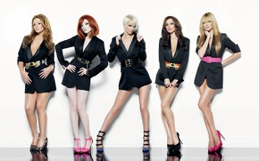 Кинозвезды: girls aloud, pop band, five girls,