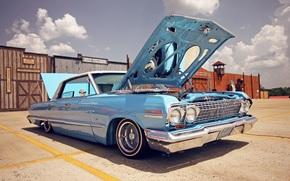 Машины: импала, шевроле, стиль, капот, день, Chevrolet