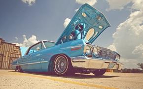 Машины: стиль, шевроле, импала, небо, облака, Chevrolet