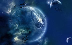 Космос: планета, камни, пространство