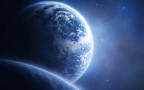 Космос: планеты, небо, синее, космос