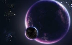 Космос: планета, атмосфера, спутник, небо