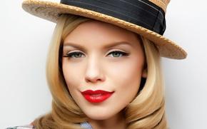 ����������: annalynne mccord, american actress, magazine, photoshoot, hat, lips, blonde
