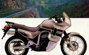 Мотоциклы: 1990, honda, transalp, brochure