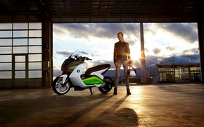 Мотоциклы: bmw, e-scooter, electric, ecologic, concept, 2011